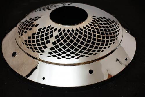 Sestavni del lestenca inox bruseno polirano ocisceno - Part of a chandelier, ground, polished, and cleaned stainless steel - Teil eines Kronleuchters - geschliffen, poliert und gereinigter Edelstahl